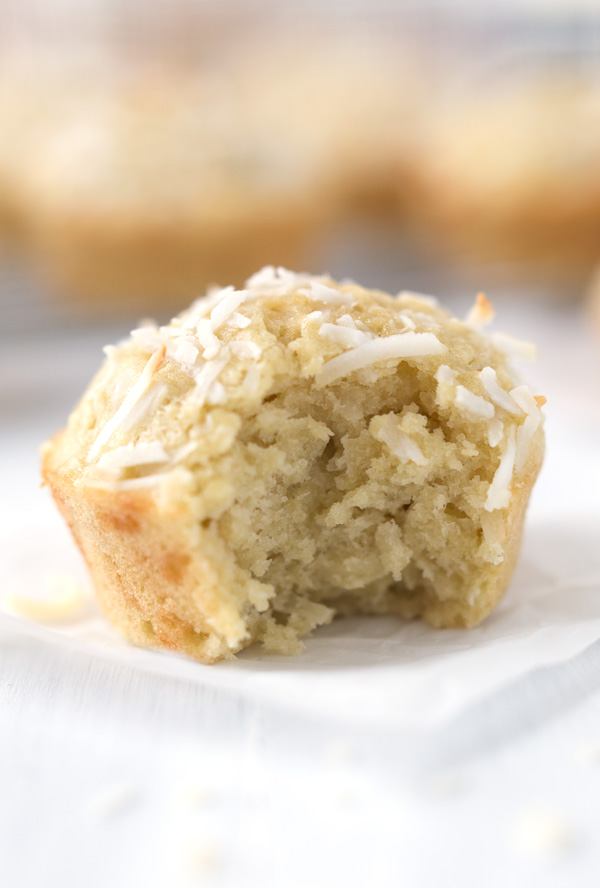 Triple Coconut Muffins - Coconut oil, coconut cream, and plenty of shredded coconut make these muffins extra coconut-y! | www.heartandstove.com