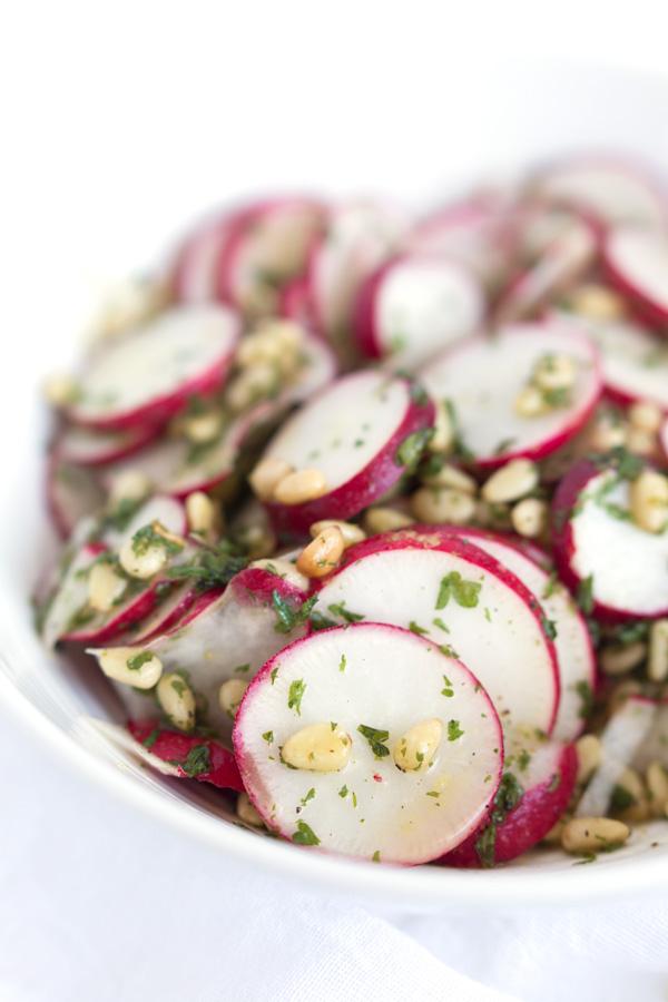 Radish & Pine Nut Salad