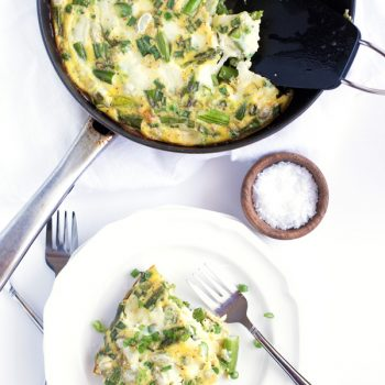 Spring Vegetable & Mozzarella Frittata