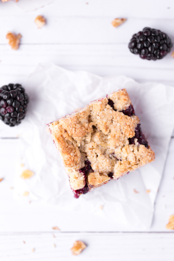 """Jam-Filled Passover Bars - An easy, one-bowl, """"kosher for Passover"""" dessert! featuring matzo meal, walnuts, coconut, and raspberry jam.   www.heartandstove.com"""