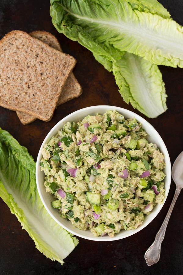 Avocado Veggie Tuna Salad
