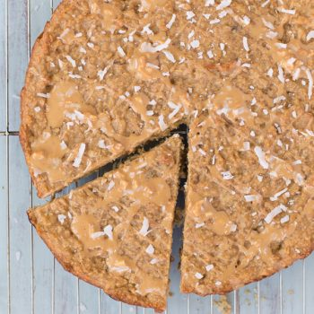 Peanut Butter, Banana, Coconut Pup Cake