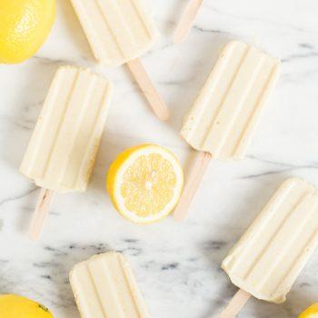 Lemon Cream Popsicles