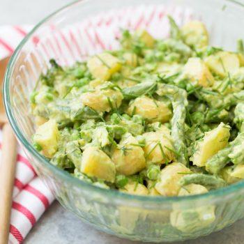 Avocado Potato and Veggie Salad