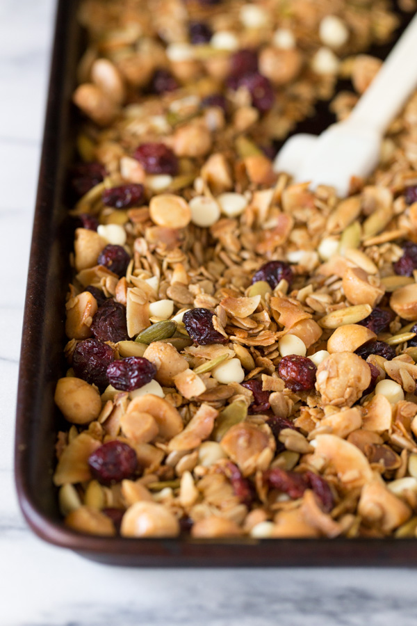 Coconut Cranberry White Chocolate Macadamia Nut Granola